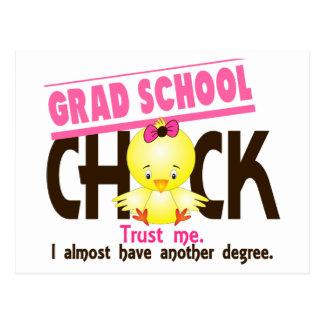 Grad School Chick 3 Postcard