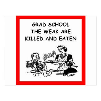grad school postcard