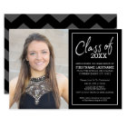 Grad Trendy Graduation Photo Announcement