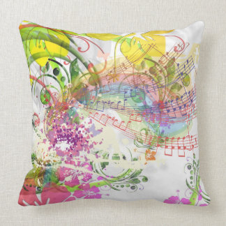 Grade A Cotton Throw Musical Flower Design Cushion