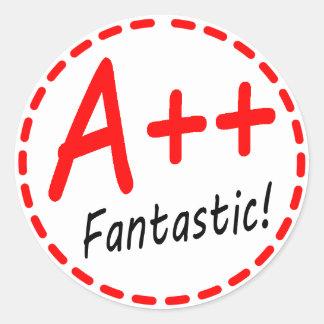 Grade A plus plus...Fantastic! Sticker