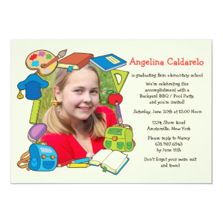 Grade School Graduation Photo Invitation
