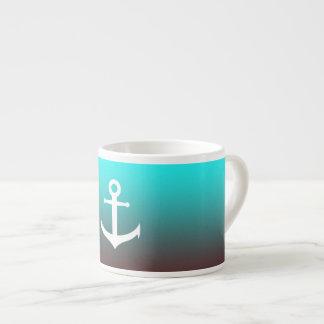 Gradient aqua red | white anchor