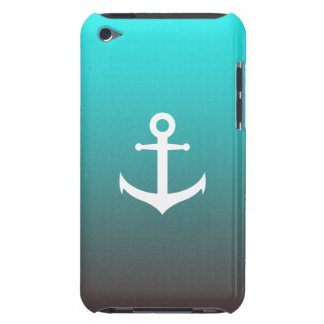 Gradient aqua red | white anchor barely there iPod cover