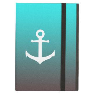 Gradient aqua red | white anchor case for iPad air