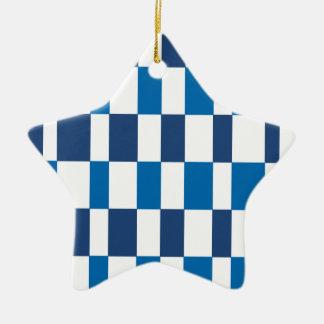 Gradient Blue Ceramic Ornament