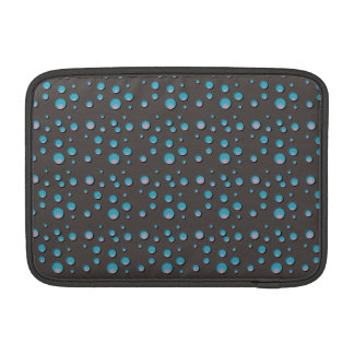 Gradient Blue Dots on Gray Sleeve For MacBook Air