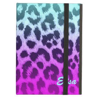 Gradient Blue Pink Cheetah Leopard Print Custom iPad Air Cover