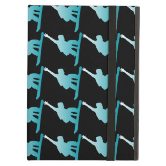 gradient blue snowboarder cover for iPad air
