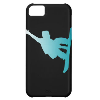 gradient blue snowboarder iPhone 5C case