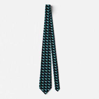 gradient blue snowboarder tie