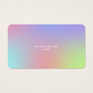 Gradient Blur Business Card