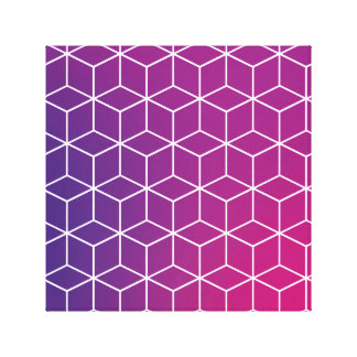 Gradient Cube Pattern on Canvas Print