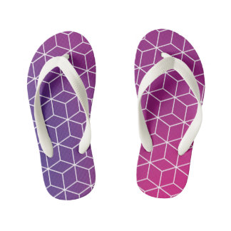 Gradient Cube Pattern on Kids Flip-Flop Kid's Thongs