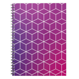 Gradient Cube Pattern on Notebook
