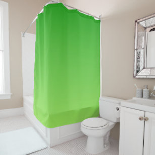 Gradient Dark Green To Light Shower Curtain
