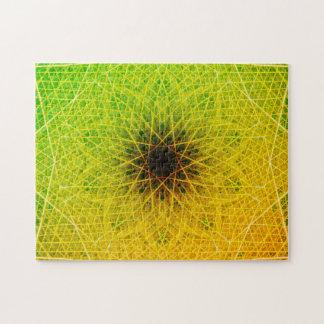 Gradient Dark Star | Relaxation Mandala Jigsaw Puzzle