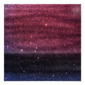 Gradient Faux Purple and Blue Glitter Photo Print