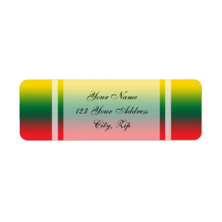 Gradient flag of Lithuania colors Return Address Label