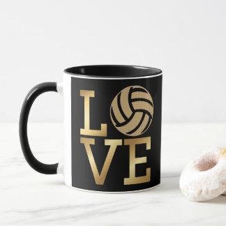 Gradient Gold Love Volleyball - Ceramic Sport Mug