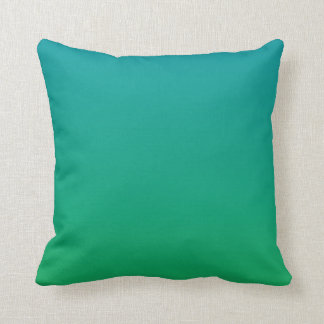 Gradient: Green to Teal Throw Pillow