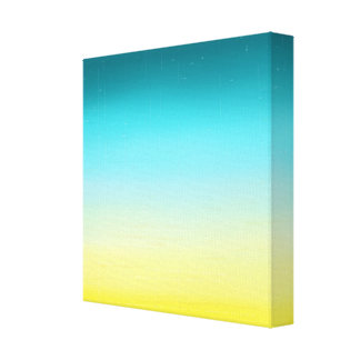 Gradient in Yellow and Blue Canvas Print