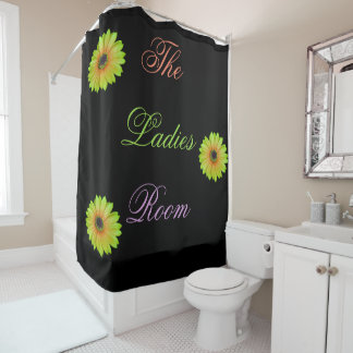 Gradient Lime Daisy Shower Curtain