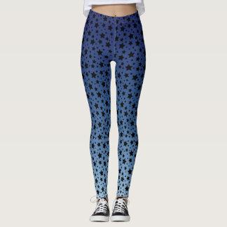 Gradient Midnight Blue Starry Night Leggings