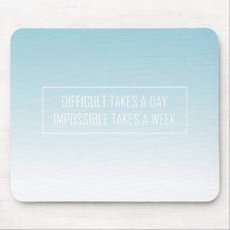 Gradient Modern Typography Quote Mouse Pad