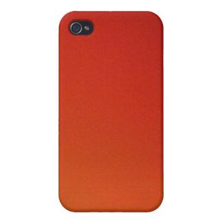 Gradient Orange Wash Light Cases For iPhone 4