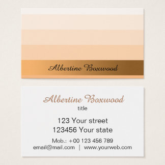 Gradient Peach with Golden Banner Custom Text Business Card