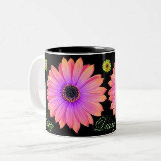 Gradient Pink Daisy Coffee Mug