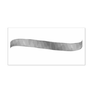 Gradient Realistic Ribbon Rubber Stamp