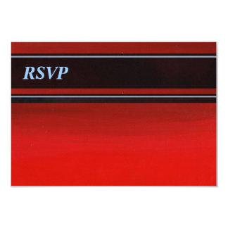 Gradient Red to Orange RSVP 9 Cm X 13 Cm Invitation Card