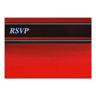 Gradient Red to Orange RSVP Personalized Invitations