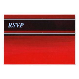 Gradient Red to Orange RSVP 3.5x5 Paper Invitation Card