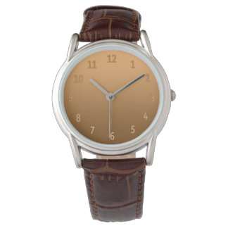Gradient Simple Colorful Golden Watch