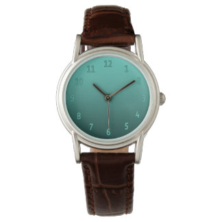 Gradient Simple Colorful Teal Wrist Watch