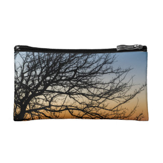 Gradient Sky in Winter Cosmetic Bag
