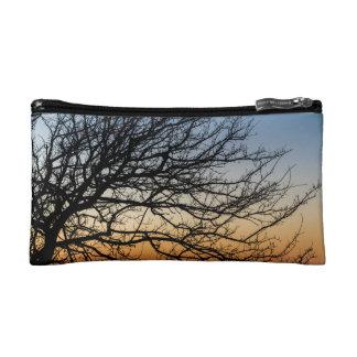 Gradient Sky in Winter Makeup Bags