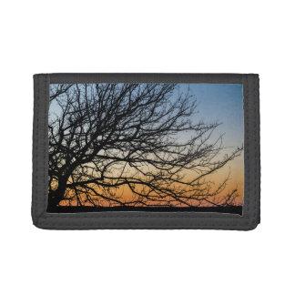 Gradient Sky in Winter Tri-fold Wallet