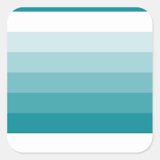 Gradient Square Aqua Blue  to White Square Sticker