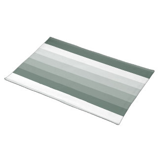 Gradient Square Sage Green  to White Placemat