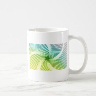 gradient star pattern coffee mug