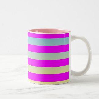 Gradient  striped  pattern. Two-Tone coffee mug