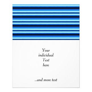 gradient stripes blue flyer design