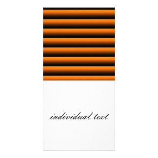 gradient stripes fire photo card template