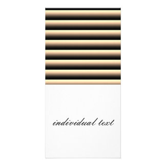 gradient stripes photo card
