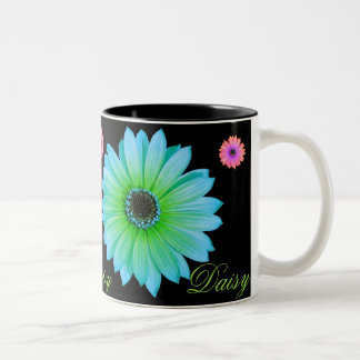 Gradient Teal Daisy Coffee Mug