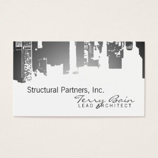 Gradient Upside Downtown Horizontal Skinny Business Card